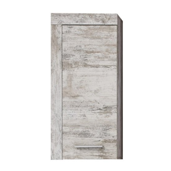Wildon Wooden Bathroom Storage Wall Cabinet In Canyon White Pine