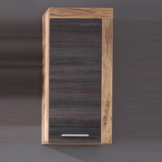 Wildon Storage Wall Cabinet In Walnut Touch Wood Dark Brown
