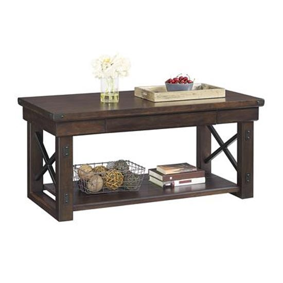 Wildwood Wooden Veneer Coffee Table In Espresso_2