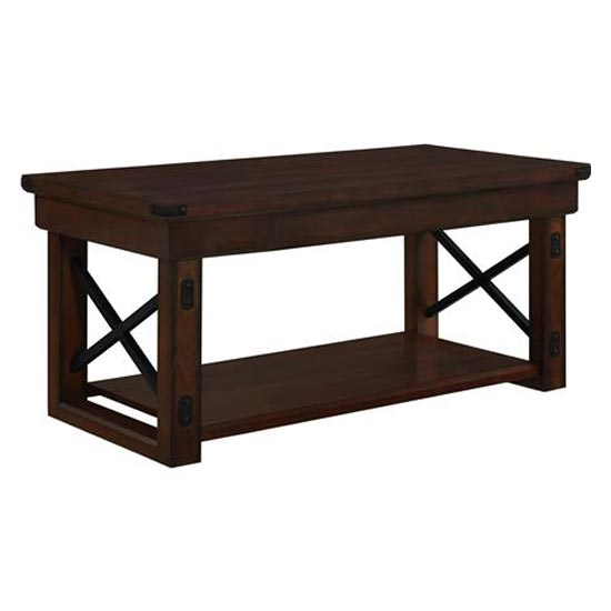 Wildwood Wooden Veneer Coffee Table In Espresso_3