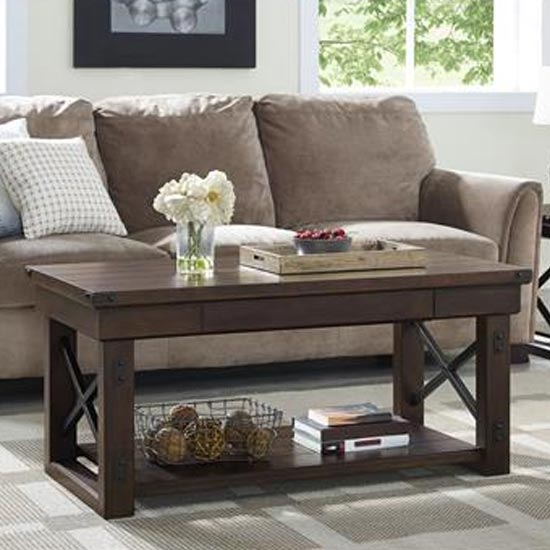 Wildwood Wooden Veneer Coffee Table In Espresso_1