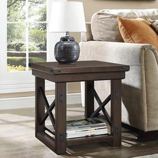 Wildwood Wooden Veneer End Table In Espresso_1