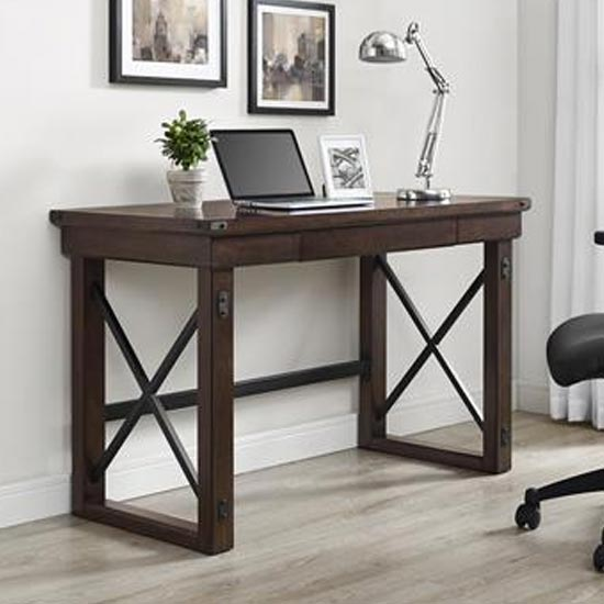 Wildwood Wooden Veneer Laptop Desk In Espresso