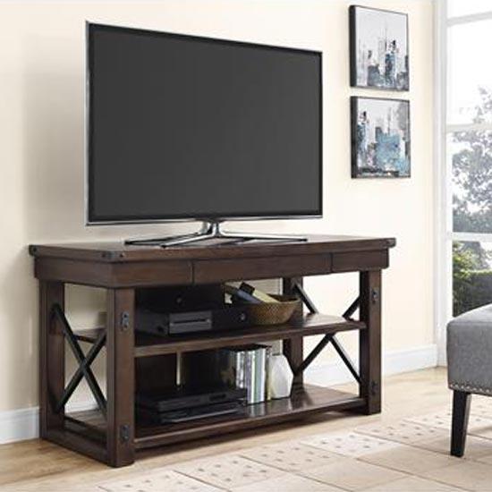 Wildwood Wooden Veneer Small TV Stand In Espresso