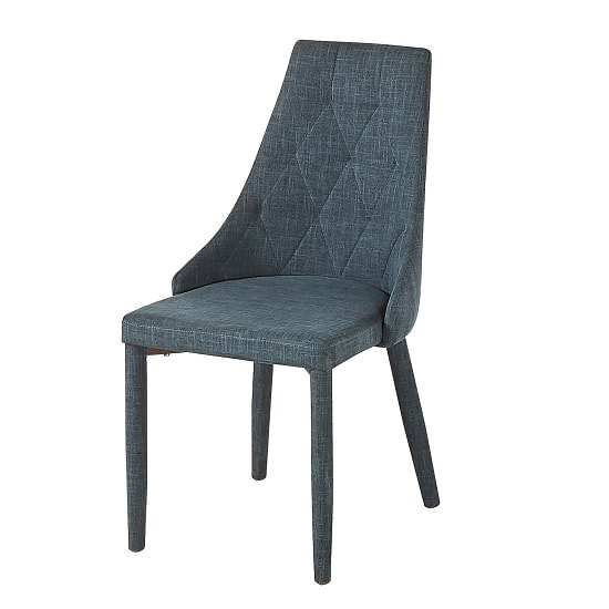 Wilkinson Modern Dining Chair In Grey Fabric_1