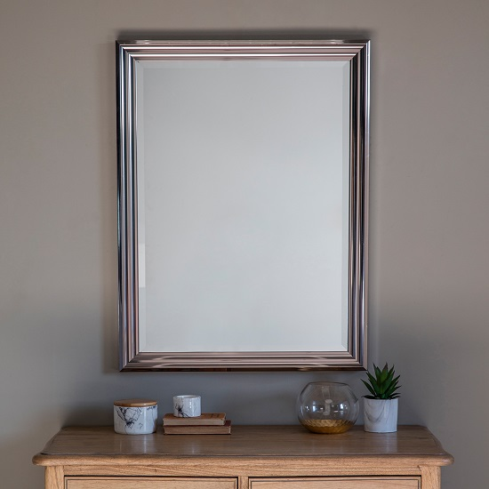 Wilko Wall Mirror Rectangular In Silver