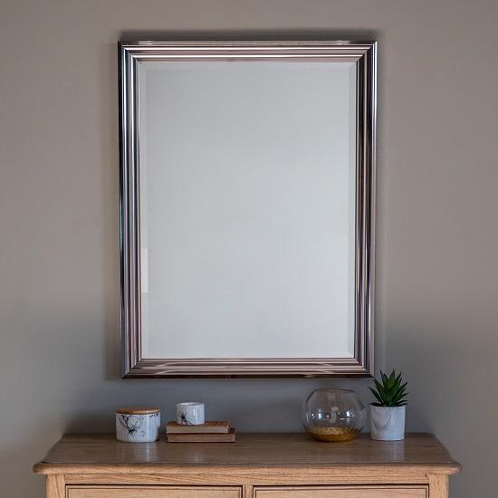 Wilko Wall Mirror Rectangular In Silver