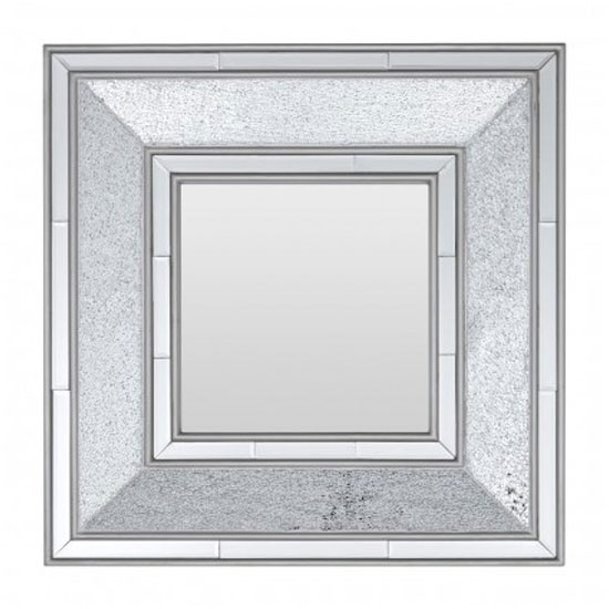 Wilmer Wall Bedroom Mirror In Antique Silver Frame