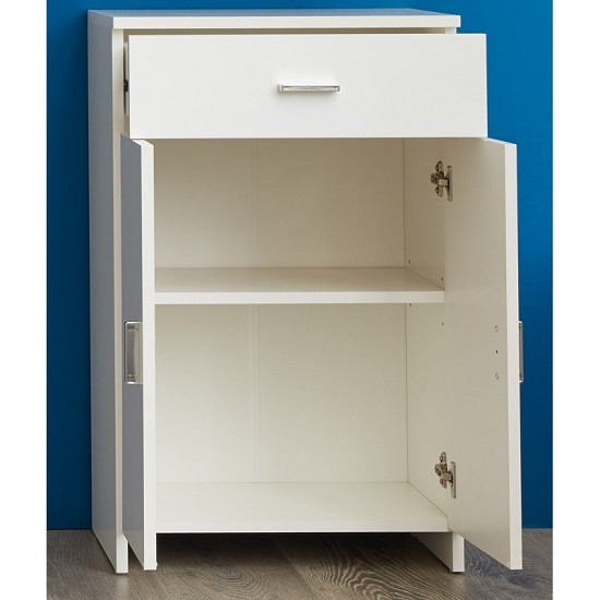 Wilmore Bathroom Cabinet In White With High Gloss Fronts_2