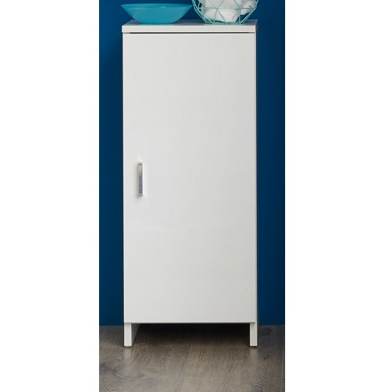 Wilmore Floor Standing Bathroom Cabinet White High Gloss Fronts