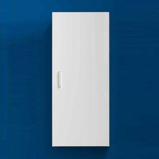 Wilmore Wall Mounted Bathroom Cabinet In White High Gloss Fronts