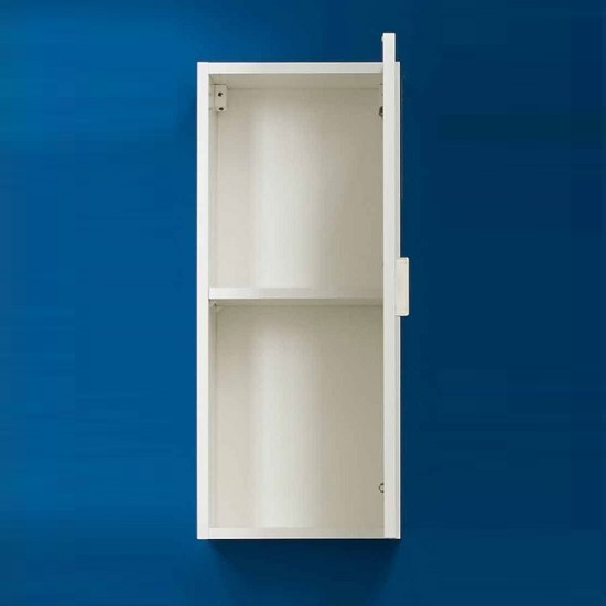 Wilmore Wall Mounted Bathroom Cabinet In White High Gloss