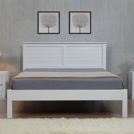 Wilmot Wooden King Size Bed In Grey