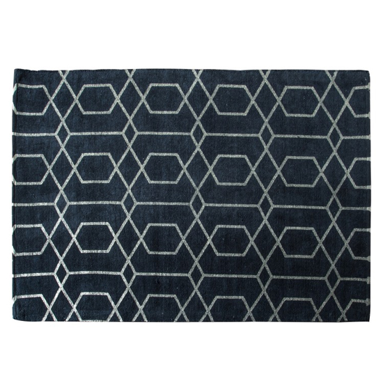 View Winchester large fabric upholstered rug in charcoal