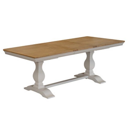 Winchester Large Wooden Dining Table In Silver Birch