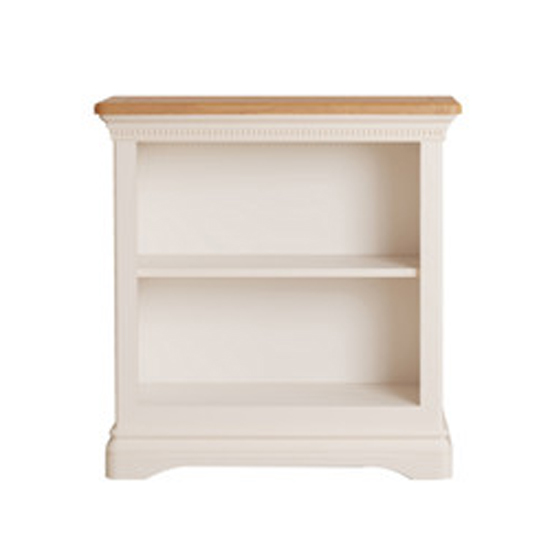 Winchester Low Wooden Bookcase In Silver Birch