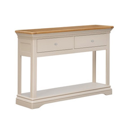 View Winchester wooden console table in silver birch