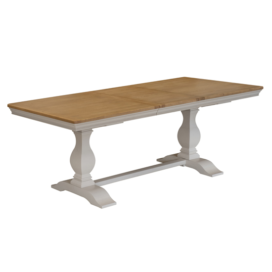 Winchester Wooden Rectangular Dining Table In Silver Birch