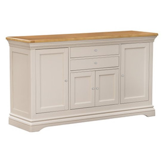 Winchester Wooden Sideboard In Silver Birch With 4 Door 3 Drawer
