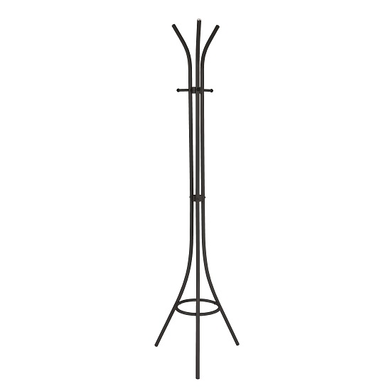 Winchester Steel Coat Stand In Black With 3 Hooks