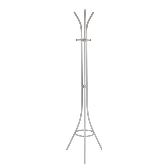 Winchester Steel Coat Stand In Light Grey With 3 Hooks