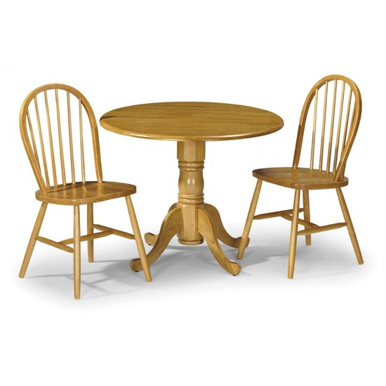 Windsor Honey Lacquered Wooden Dining Chairs In Pair_3