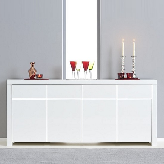 Windsor Sideboard In White High Gloss With Storage_2