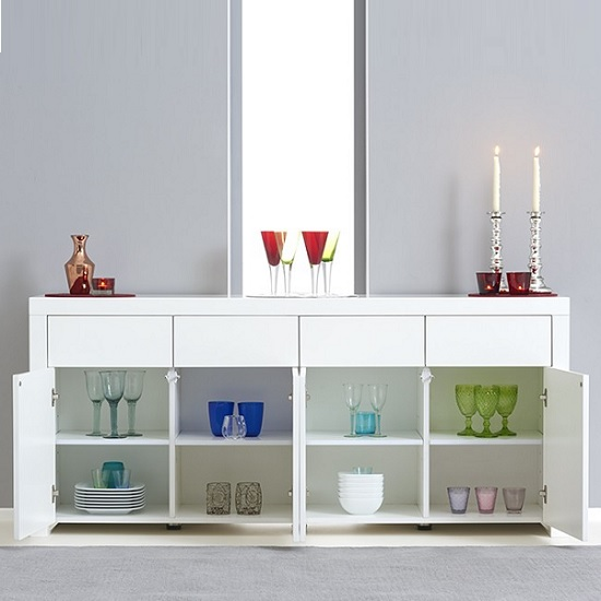 Windsor Sideboard In White High Gloss With Storage_3