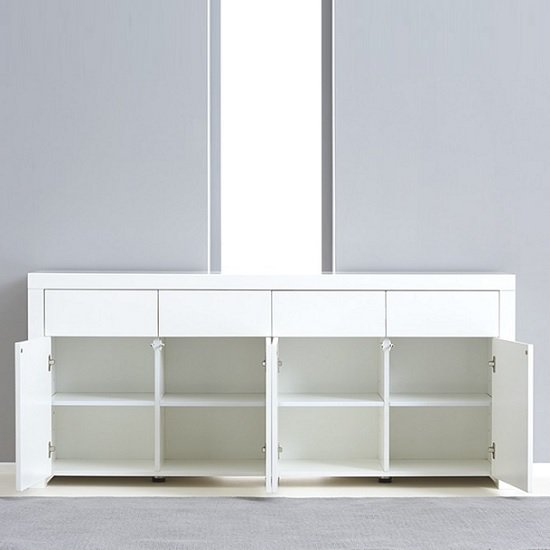 Windsor Sideboard In White High Gloss With Storage_4