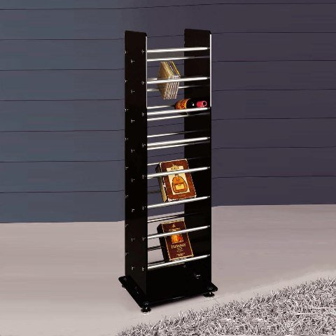 wine cd dvd rack stand W103 B - Metal Wine Racks, Can Hold The Finest or The Most Fun Wines