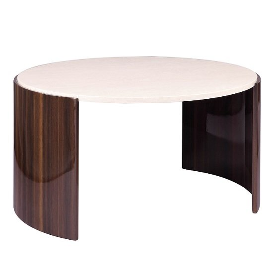 Winslow Coffee Table In Walnut And Cream High Gloss_1