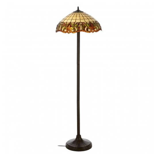 Wisterias Tiffany Umbrella Shade Floor Lamp In Bronze
