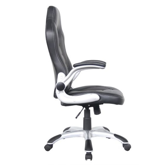 Witney Home Office Racing Chair In Black Faux Leather_2