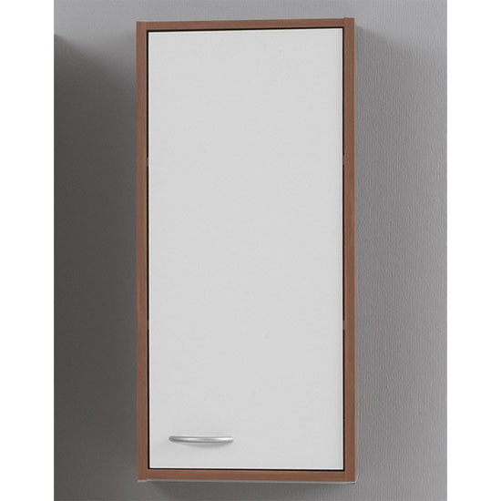 Madrid1 Bathroom Wall Cabinet In Plumtree And White With 1