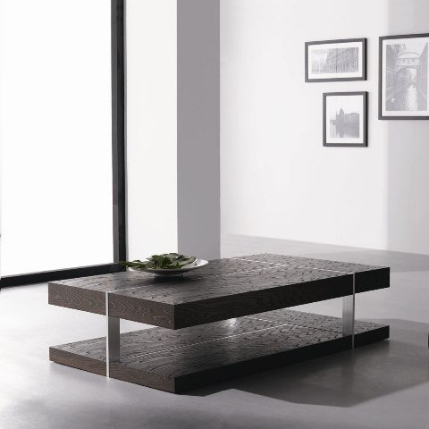 Contemporary Coffee Table In Dark Elm