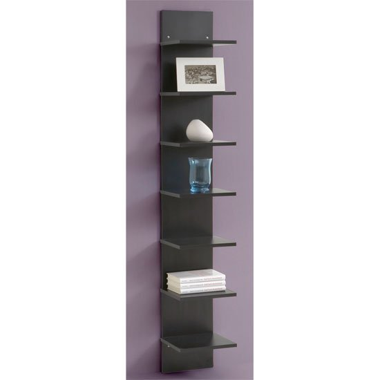 Vertical Black Wall Shelving, Flip - Buy Modern Home ...