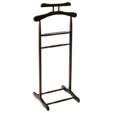 Wooden Clothes Valet Stand in tobacco