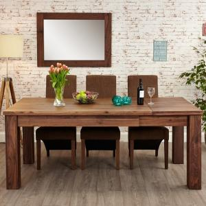 wooden extending dining tables UK, wood extendable dining table and chair sets