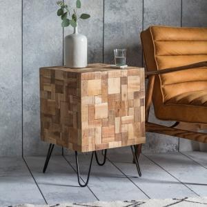 wooden side tables UK, wooden lamp table