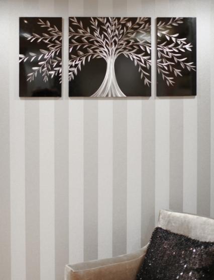 Woodland summer tryptich print set of three wall art