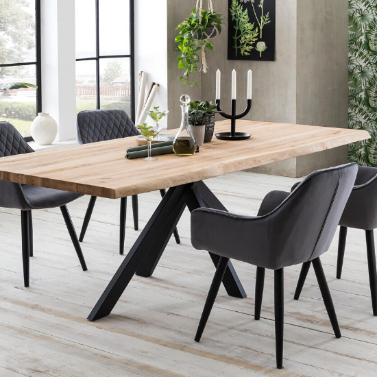 Get wooden dining tables in rustic and extendable solid wood from Furniture in Fashion at affordable price