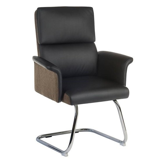 Wooster Visitor Chair In Black With Cantilever Frame_1