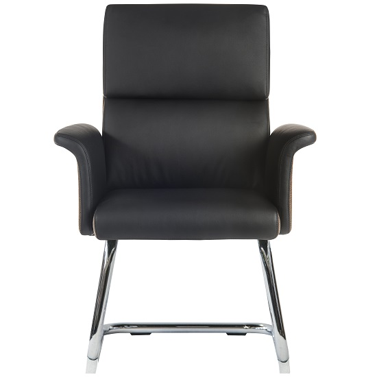 Wooster Visitor Chair In Black With Cantilever Frame_2