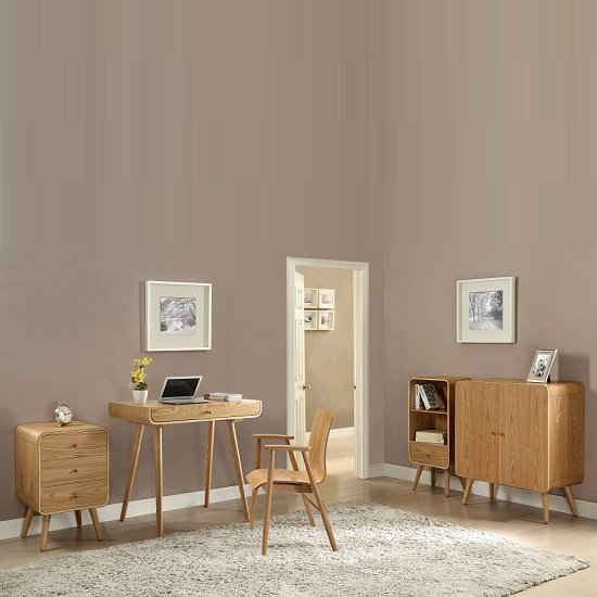 Worcester Laptop Desk In Natural Ash With 1 Drawer 28280