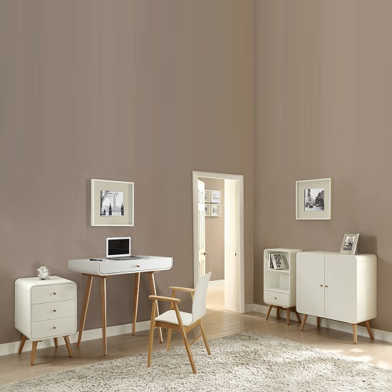 Worcester Laptop Desk In White Ash With 1 Drawer 28281