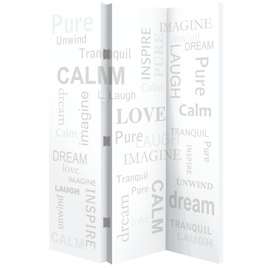 Calming Words Room Divider In Canvas Print