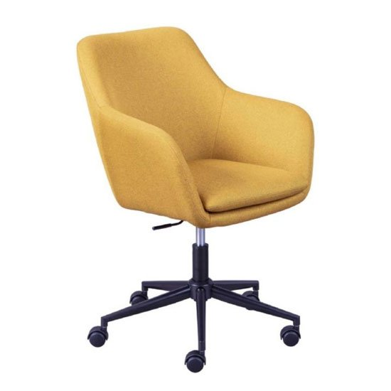 Workrelaxed Fabric Office Swivel Chair In Curry