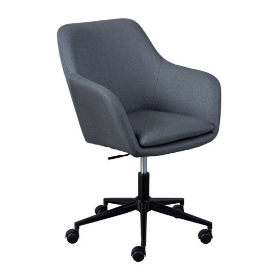 Workrelaxed Fabric Office Swivel Chair In Grey