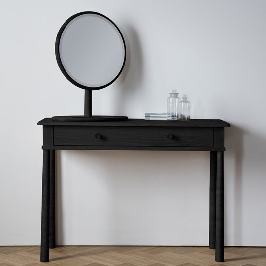 Wycombe Dressing Table In Black Wit 2 Drawers