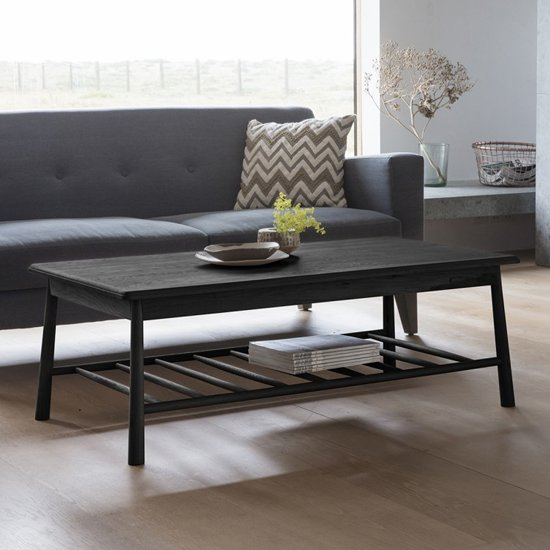 Wycombe Rectangular Wooden Coffee Table In Black